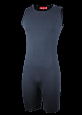 Romper met drukkers in pijpen en schouders