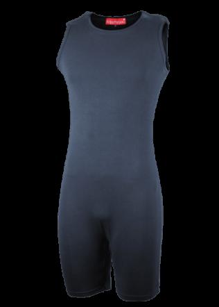 Romper zonder mouw met ritssluiting onderkant